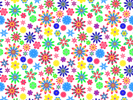 Colorful flowers _ pattern _ white