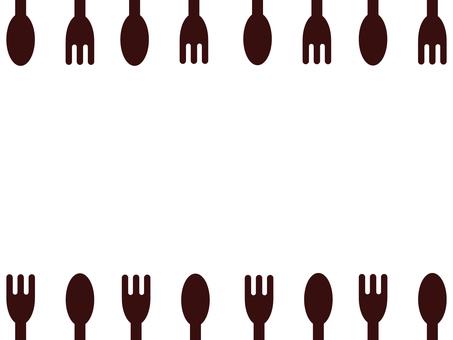 Frame / frame (spoon and fork)