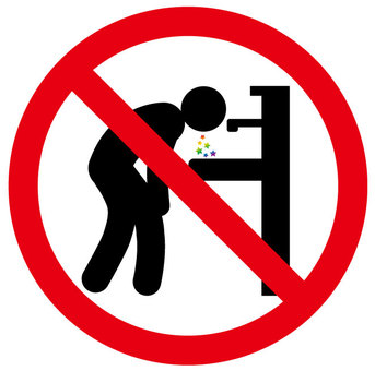 Vomiting prohibited