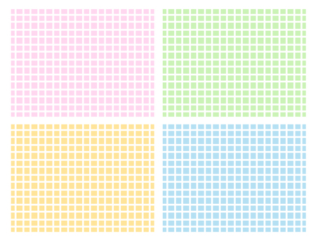White grid × 4