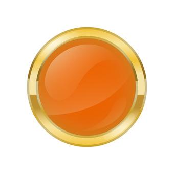 Gold-edge stereoscopic button icon