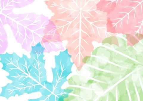 Water color fallen leaves