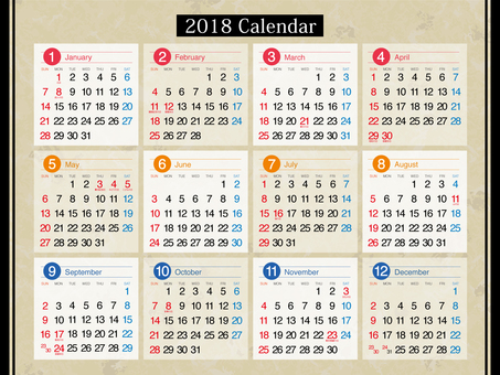 2018 년 달력 [1]