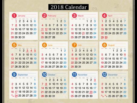 2018 calendar [1]