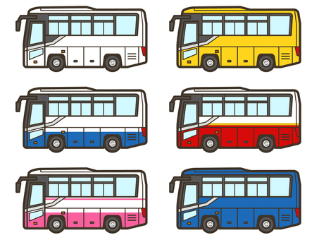 Sightseeing bus_highway bus set