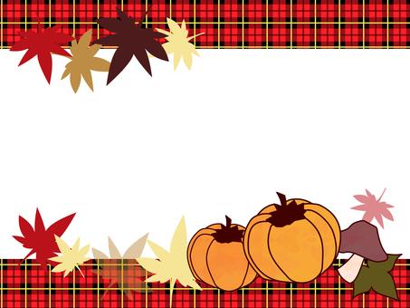 Autumn illustration frame
