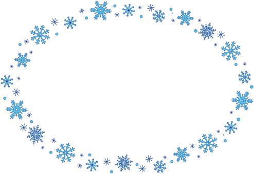 Snow crystal line circle (ellipse)