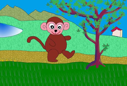 Illustration of Monkey and Noyama