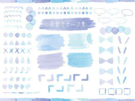 Watercolor motif collection