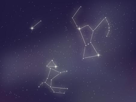 밤하늘 - 겨울 별자리