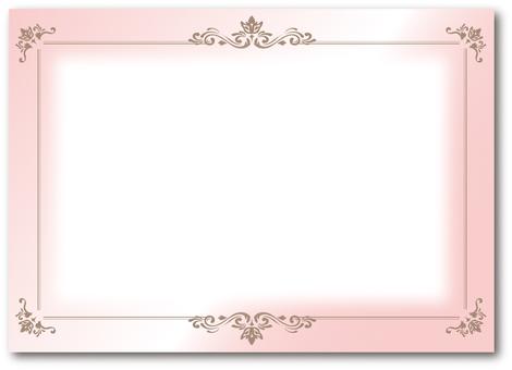 Frame luxury decorative ruled pink