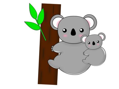 Koala parent and child 1