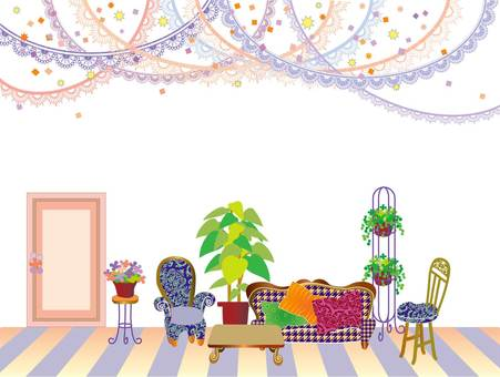 Interior _ drawing room _ orange