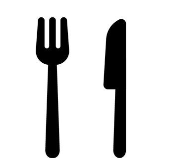 Fork and knife icon dishes