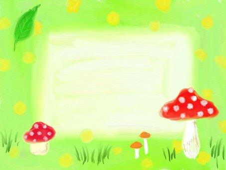 Forest mushroom frame