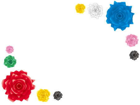 ぎざぎざの薔薇部分フレーム素材