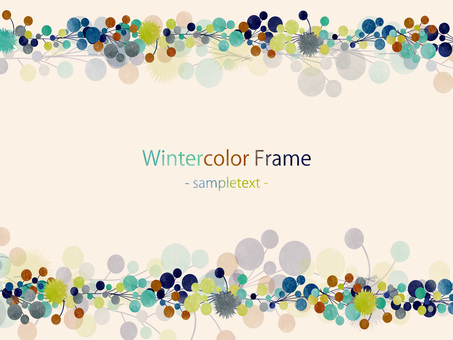 Winter color frame ver 03
