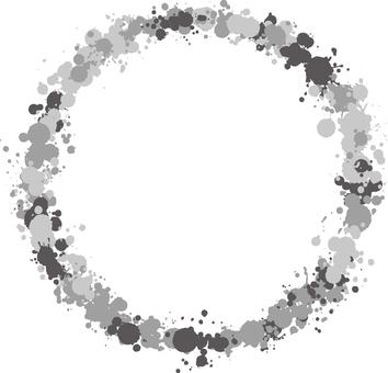 Ink drops frame monochrome