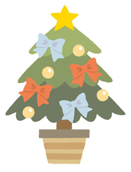 絲帶的聖誕樹