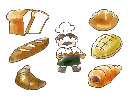 Bread (watercolor painting)