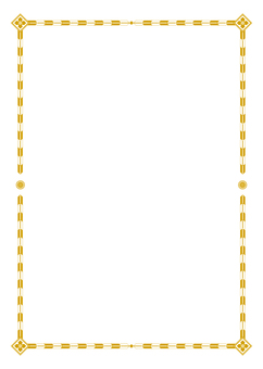 Japanese style A4 frame (gold)