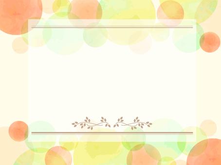 Warm color message card 02