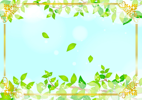 Fresh green elegant frame 001
