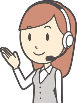 Call center female - 128 - bust