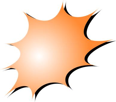 Orange's speech bubble