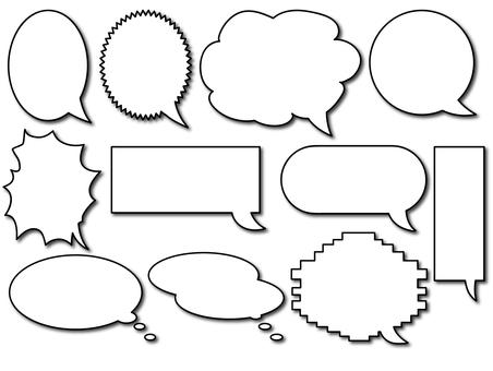 Speech balloon _ shadow summary
