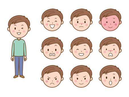男の子・表情バリエーションー1