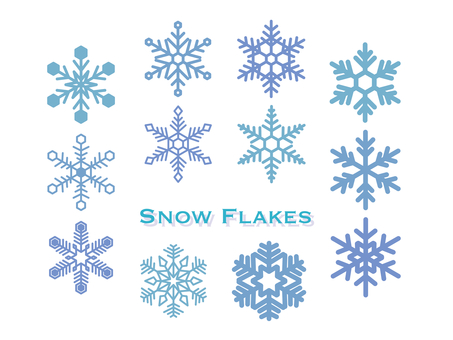 Illustration set of snowflakes