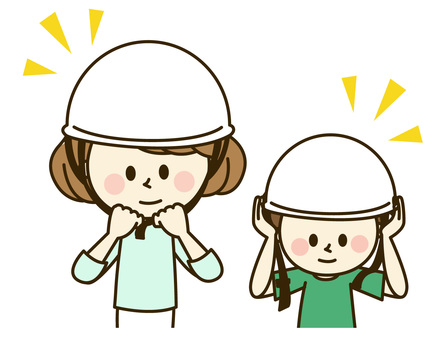 Parent and child wearing a helmet 2-12