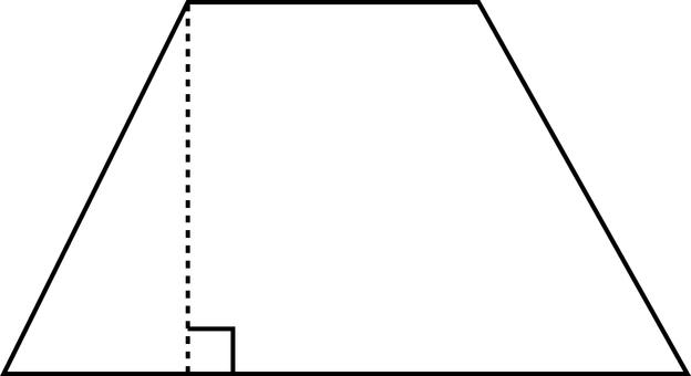 Mathematics _ basic figure _ line drawing _ trapezoid