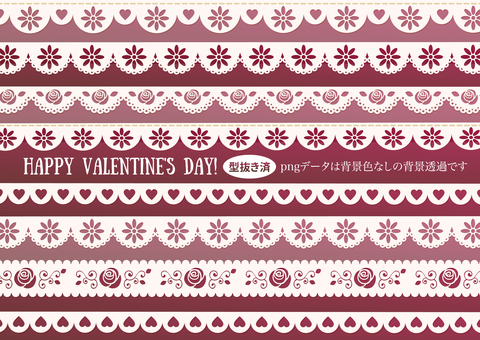 Valentine Illustration 12 Lace · Ribbon