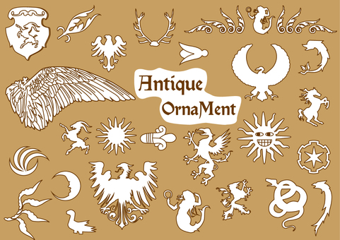 Antique Ornament Set 02