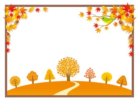 가을 낙엽과 단풍 프레임