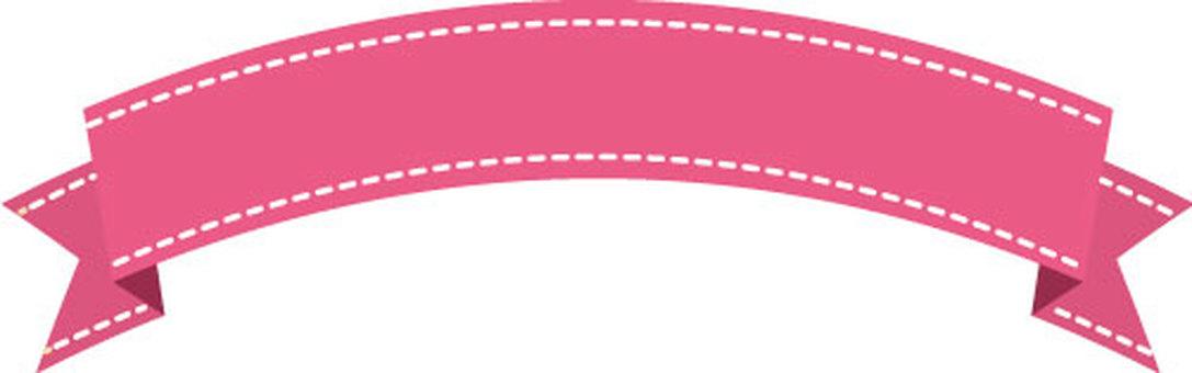 Ribbon frame small (pink)