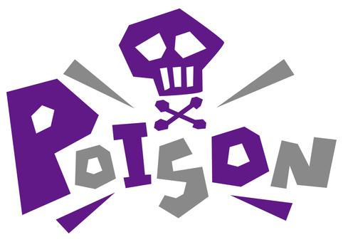 POISON poison poison ☆ POP logo