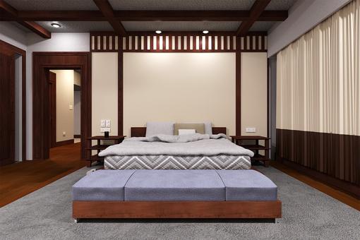 Luxury hotel style bedroom