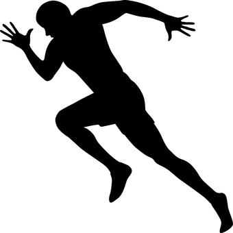 Runner _ Silhouette _ monochrome