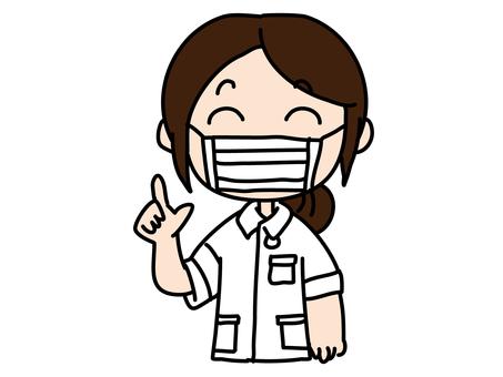 護士女口罩指導