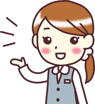 【Female OL uniform】 diagonal _ guide_half