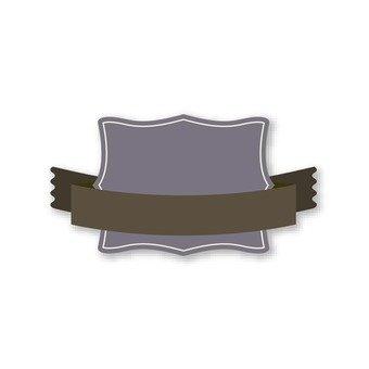 Purplate plate (dark brown ribbon)