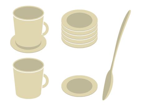 咖啡杯·勺子·杯墊03