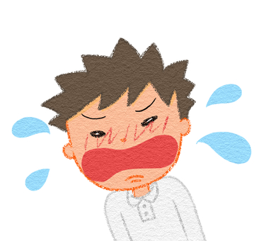 A boy who cries violently