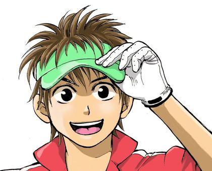 Cartoon Illustration Golfer (Youth)
