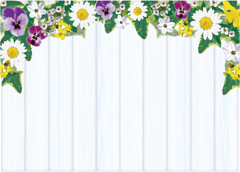 Spring gardening flower frame