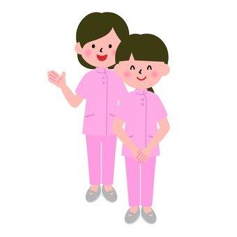 Medical - female nurses (whole body)