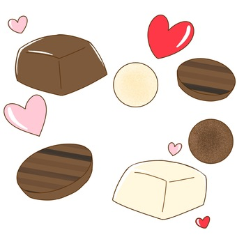 A lot of cute chocolates
